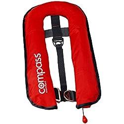 Rettungsweste Schwimmweste Compass Automatik mit Lifebelt und Schrittgurt, 150 Newton/16 Liter, orange