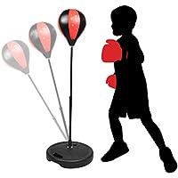 KidsHobby® Sac De Frappe Enfants Punching Ball Réglable En Hauteur 80-110cm Avec Gants De boxe Et Pompe Pour Entraînement De Boxe