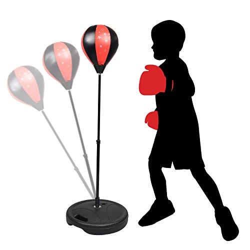 et mit Boxhandschuhen & Pumpe für Kinder Jugend höhenverstellbar von 80 bis 115 cm (Aufblasbarer Boxsack Für Erwachsene)