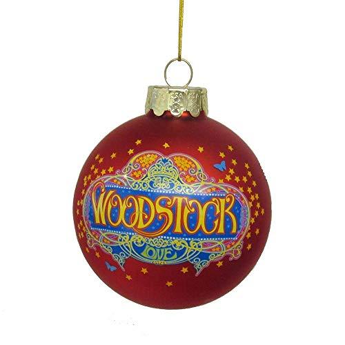 Kurt Adler Woodstock Red Glass Ball Christmas Tree Ornament 3.1 Inch WO4182 New -