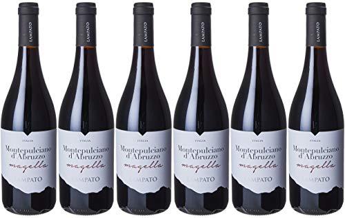 """Vino Rosso Montepulciano d'Abruzzo D.O.C. 2017 Cantine""""LAMPATO"""" Colline Pescaresi - Abruzzo - Italy - Box da 6 Bottiglie da 0,75 lt."""