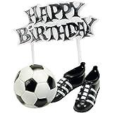 Déco Gateau Foot Happy Birthday - Ballons - Chaussures - Anniversaire Enfant