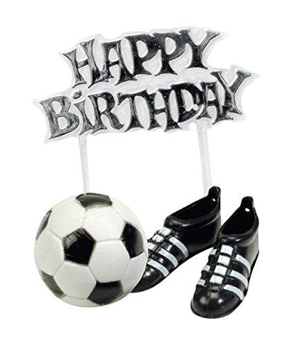 Déco Gateau Foot Happy Birthday - Ballons - Chaussures - Anniversaire Enfant 5026281000749