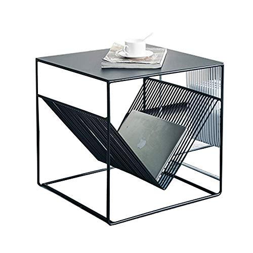 Metall-modernes Sofa (YueQiSong Einfache Schmiedeeiserne Beistelltische Einfache Moderne Couchtisch Nordische Sofa Ecktisch Kreative Nachttisch Metall Beistelltisch, Schwarz)