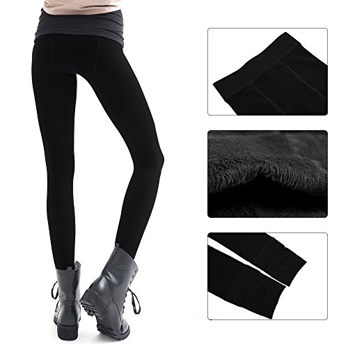 La Dearchuu Damen Leggings Medium Schwarz