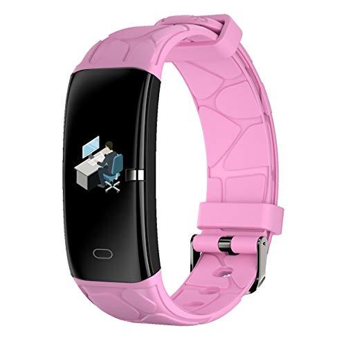 LXIANGP Smart Armbanduhr Herzfrequenz Blutdruck Sauerstoff Schlaf Erkennung Flash Dekoratives Licht Multifunktions Sport Modus wasserdichte USB Lade Unterstützung Android Und IOS (Color : Pink) Skype-usb-flash -