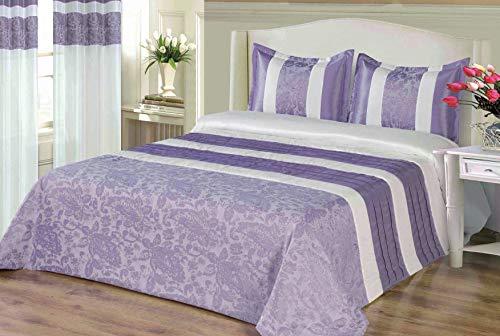 mercatohouse – Couvre-lit bouti Comforter Premium Jacquard 200gr – Aida (lit 150)