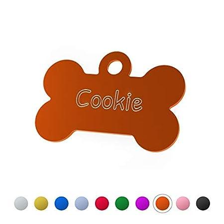 ENGRAVO Hundemarke Knochen mit Gravur und 2 gratis Schlüsselringe. Verschiedene Größen, tolle Motive und viele Farben – Jetzt Deinen gravierten Hundeanhänger gestalten