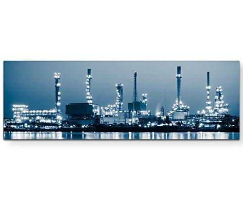 Paul Sinus Art Leinwandbilder | Bilder Leinwand 150x50cm Erdölraffinerie Bei Dämmerung Bangkok Thailand