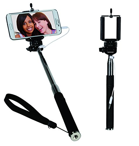 Kenzies Small Mobile Gadgets - Extendable Mobile Phone Selfie Stick with 3.5mm Plug - Christmas, Secret Santa Gift For Men amp; Women - One Supplied