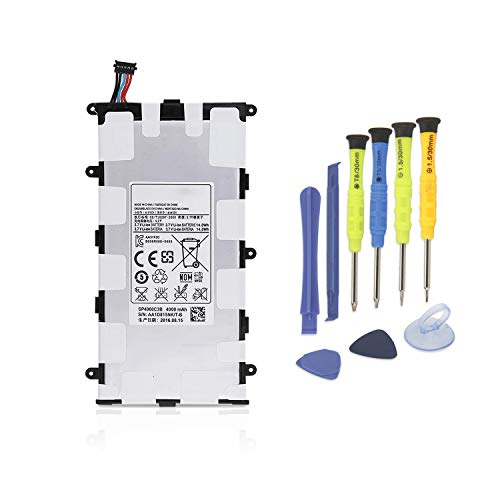 K KYUER 4000mAh SP4960C3B Tablette Akku für Samsung Galaxy Tab 2 7.0 GT-P3100 P3108 P3110 P3113, Tab 7.0 Plus GT-P6200 GT-P6201 GT-P6208 GT-P6210 GT-P6211 SGH-T869 Batterie with Installation Tools Gt-p3113 Tablet