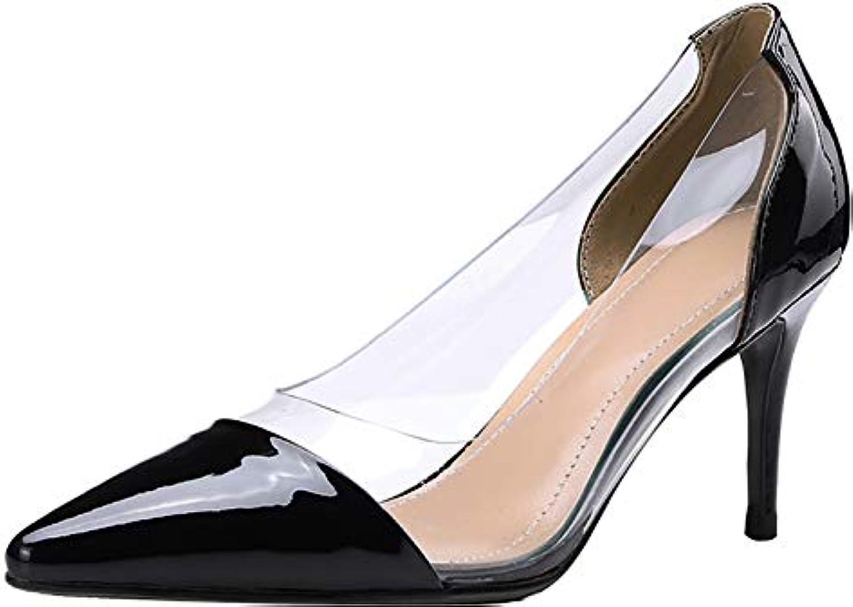 Calaier Donna Qaxck Punta-Toe 7.5CM Scivolare su Scarpe Scarpe Scarpe col Tacco Calzature | economia  56959b