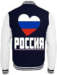 Jacke mit russischer flagge