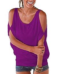 Camisetas Sin Tirantes Mujer Básica Tops Manga Corta T Shirt Verano Elegante Moda Blusa Casual Pullover Tunica Lisos - Landove