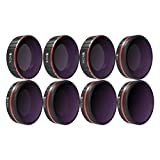 Freewell All Day - 4 K Series - 8 Pack ND4, ND8, ND16, CPL, ND8/PL, ND16/PL, ND32/PL, ND64/PL filtri per obiettivi della fotocamera compatibile con DJI Osmo Action Camera
