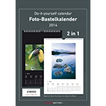 Foto-Bastelkalender 2014 2 in 1 schwarz/weiss datiert 21 x 29,7 cm, Bastelkalender 2014: Do it yourself calendar