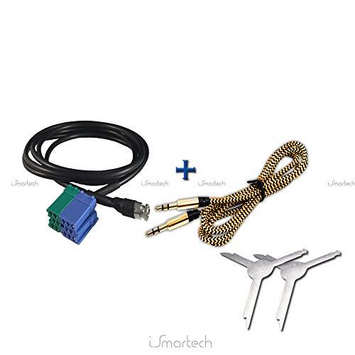ismartech®: Cable AUX para Fiat Bravo Desde 2007visteon Entrada Jack Hembra de...