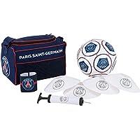 PARIS SAINT GERMAIN Petit Sac de Sport + Ballon + Brassard + Pompe + Cones PSG - Collection Officielle