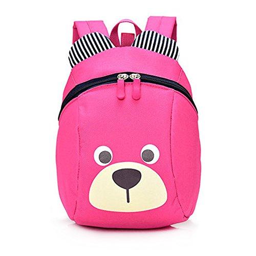 Imagen de dafenq linda bear bebé  infantil guarderia niños escuela  con seguridad riendas belt rosa roja