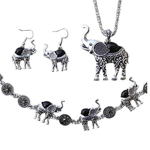 Mujeres elefantes cosecha mayor de Ajuste sistemas de la joyería pulsera caída...