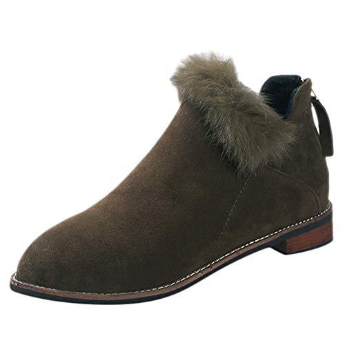 Frauen Faux Fur Herde Knöchel Martin Stiefel Solide Kurze Schuhe Damen Chelsea Stiefel