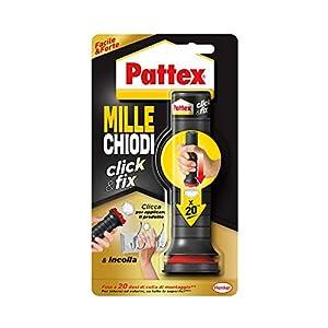 Pattex Millechiodi Forte & Rapido, adesivo di montaggio extra forte che sostituisce viti e fori al muro, adesivo bianco…