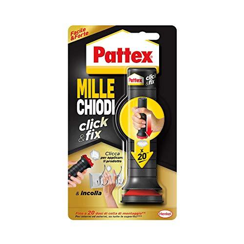 Pattex Millechiodi Click&Fix adesivo universale istantaneo con facile applicatore predosato clicca e incolla con l adesivo extra forte facile da