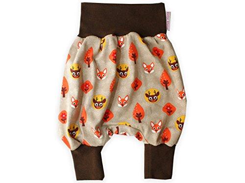 Baby-Hose Pumphose 'Waldfreunde' Haremshose Jerseyhose von Klein Size 74/80, Farbe braun