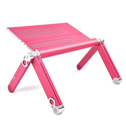 YFQ Lazy Desk Laptop Tisch Home Kinderschreibtisch Bücherregal Schreibtisch Werkbank Picknicktisch Frühstückstablett Notebookständer (Color : Pink)