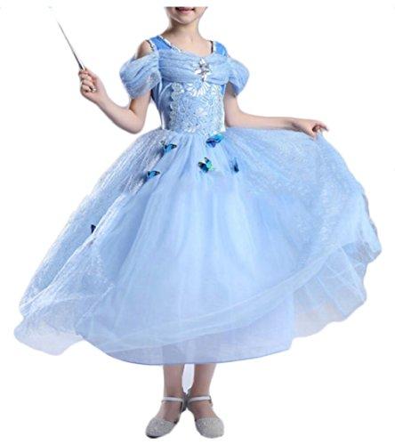 security Girls Princess Cinderella Costume Dress Party Fancy Dress