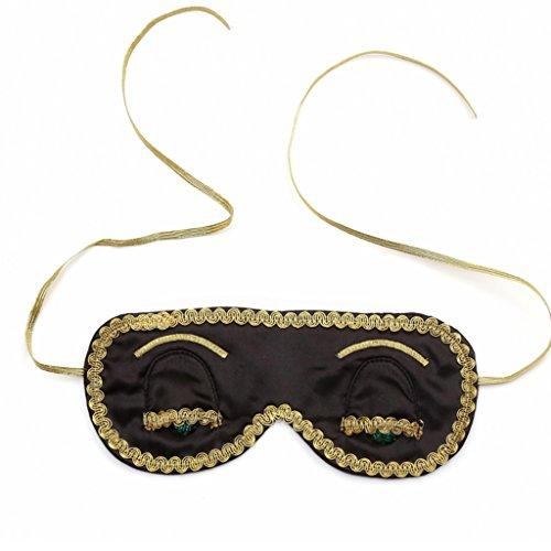 Midnight Black Schlafmaske Frühstück bei Tiffany Hepburn Handmade (w / Geschenkbox)