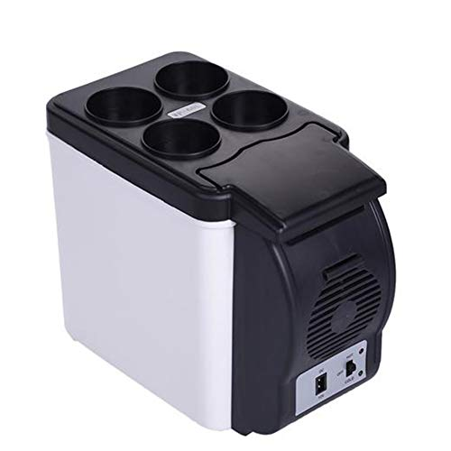 Cffs Auto Mini Kühlbox Kühlschrank 6L Auto Kühlschrank, tragbarer Mini Kühlschrank, AC und DC Hotspot System, Thermostat, Drogenspeicher, Kosmetik Kühlschrank