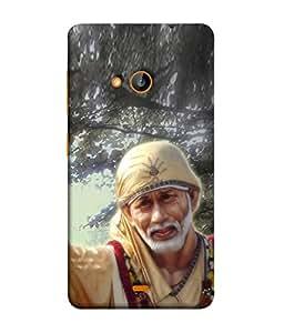 FUSON Designer Back Case Cover for Nokia Lumia 730 Dual SIM :: Nokia Lumia 730 Dual SIM RM-1040 (Shirdi Wale Sai Baba Sainath God Shradha Saburi Pooja)