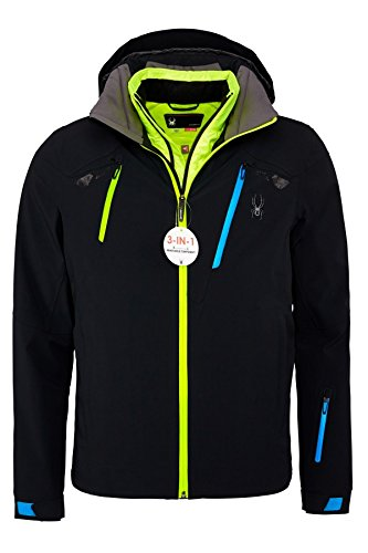 Spyder Herren 153028-001 Skijacke Revelstoke 321 Jacket Black/Electric Blue