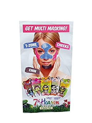 7TH heaven Get Multi Masking 5 Sachet Mask Pack: T-zone, Cheeks & Chin from MONTAGNE JEUNESSE