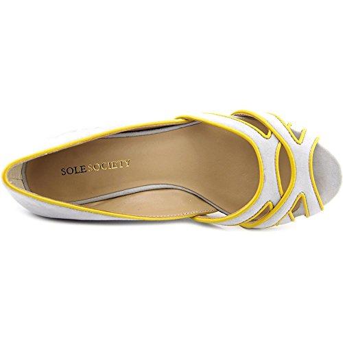 Sole Society Danna Femmes Daim Talons Compensés Silver Sconce-Mustard