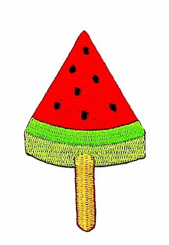 rabana Icecream Wassermelone Rot Weiß Grün Cartoon Kids Kinder Cute Animal Patch für Heimwerker-Applikation Eisen auf Patch T Shirt Patch Sew Iron on gesticktes Badge Schild (Wassermelone Kids Kostüme)