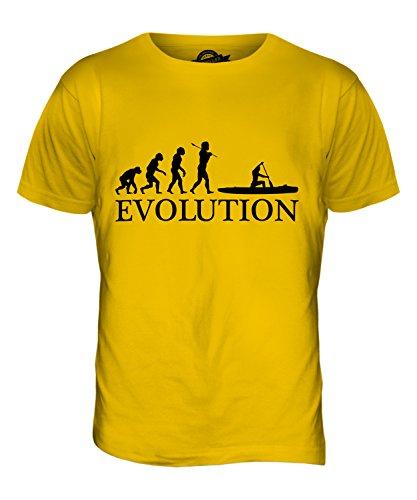 Kanu Evolution des Menschen - Herren T-Shirt T-shirt Top - Herren, Karamellbonbon, XXXX-Large