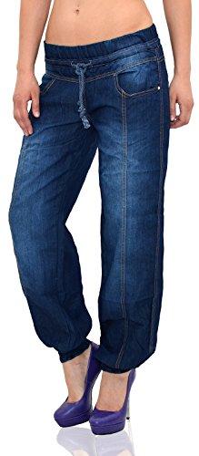 by-tex Damen Jeans Hose Haremshose Pumphose Damen Jeans Aladinhose Boyfriend Jeanshose aktuelle Modelle J133