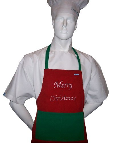 chefskin-adult-apron-christmas-embroidery-with-merry-christmas-in-christmas-colors-ultra-lightweight
