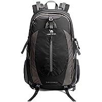 CAMEL CROWN 50L Mochila de Senderismo con Cubierta Impermeable Mochila de Caminata Daypack de Gran Capacidad para Viaje Deporte Montañismo Trekking Camping al Aire Libre