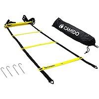CAMIDO Koordinationsleiter Trainingsleiter I Fitness Fußball & Sport I inklusive Tasche & Heringe I 4,5m Länge, 11 hochwertige Sprossen