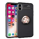 Momoxi Handyhülle, Phone Accessory Handy-Zubehör Für Apple iPhone XS Autohalterung Magnetkoffer mit Ring-Ständerhalter 5,8 Zoll, begrenzte Anzahl