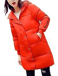 K-youth® Abrigos De Mujer Invierno Elegantes Largos Espesar Cálido Invierno Abrigo Acolchado Chaquetas con Capucha de Piel Sintética