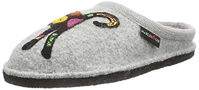 haflinger sassy damen flache hausschuhe schuhe handtaschen. Black Bedroom Furniture Sets. Home Design Ideas
