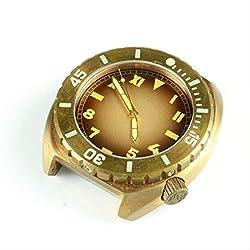 WDXDP Montres Bracelet Montre Automatique Homme Bronze Vintage Montre De Plongée Montre Saphir Verre 50Atm Lunette Lumineuse Homme MontreBronze 3