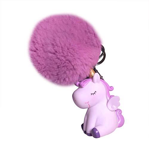 Da.Wa 1X Llavero de Tianma de Unicornio Llavero Color Unicornio Regalo para Niños Niñas Blanco