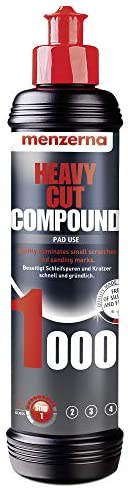 Menzerna Heavy Cut Compound 1000 (250 ml), car polishing compound, eliminates scratches, overspray and pronoun