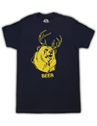 Beer Bear+Deer Mac Navy Erwachsene T-shirt Tee
