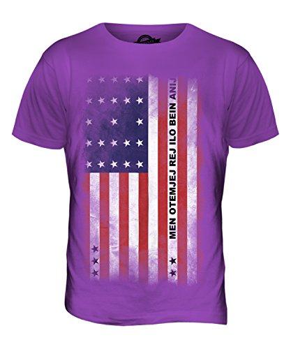 CandyMix Bikini-Atoll Verblichen Flagge Herren T Shirt Violett